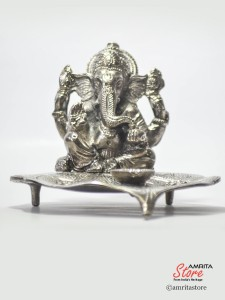 Leaf Design R patta  Ganesh Deepak Votive Lamp